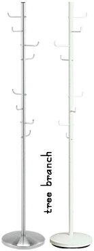 ポールスタンドスチールハンガーシルバー ホワイトハットやコート掛けると一段と存在感が現れる鞄やアクセサリー、腕時計なんでも引っ掛けちゃえ!POLE STAND HUNGER棒にフックが複数突き刺さったようなデザイン