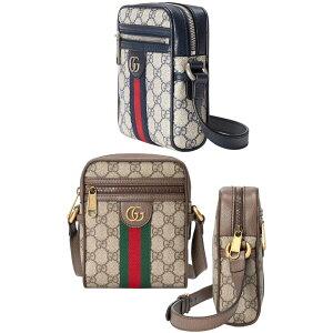 GUCCI Gucci Double G logo حقيبة ماسنجر صغيرة pochette حقيبة كتف مائلة PVC قماش مغلف × طلاء جلدي GG قماش GG قماش كانفاس بيج × كو بني حقيبة مخططة ويب 8745BEBR