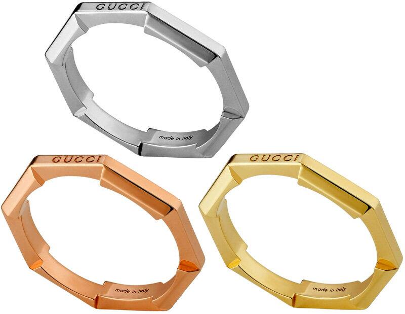 男女兼用アクセサリー, 指輪・リング GUCCI 18K RING 9000WG J85008000YG5702PG 0622