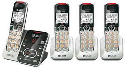 AT&T デジタルコードレスフォン盗聴がされ難く、クリアな音声通話が可能なDECT6.0方式採用デジタル留守電話機能付き電話機親機もコードレス ブラック×シルバー ディスプレイ子機増設可能ハンドセット 最大12台まで増設可能Cordless Telephone:kaminorth