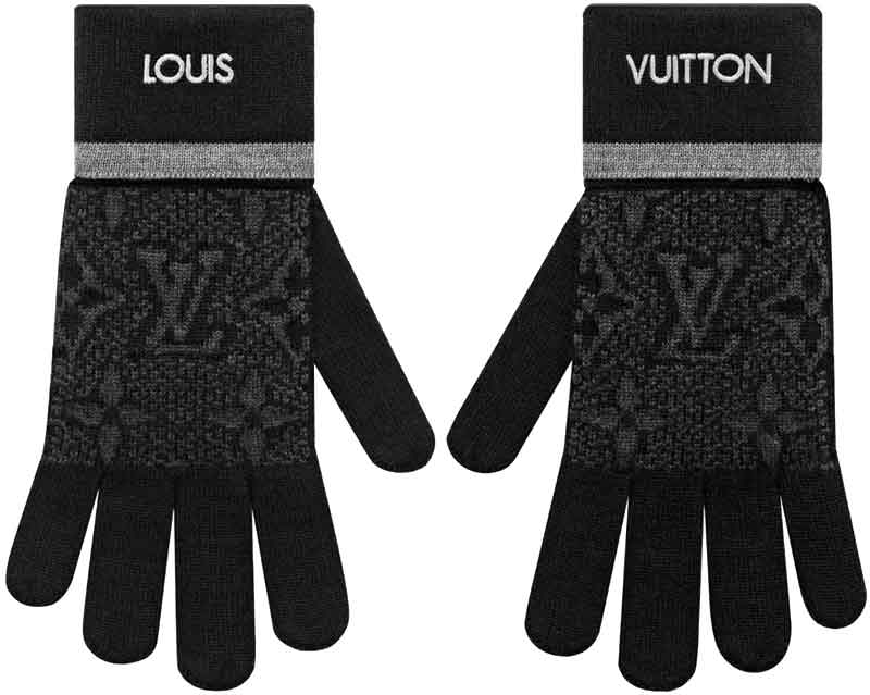 手袋・アームウォーマー, メンズ手袋 LOUIS VUITTON LV MYMONOGRAM ECLIPSEWOOLGLOVES