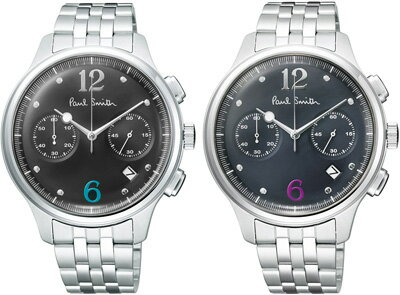 Paul Smith ポールスミス  ウォッチ 腕時計watch メタルバンドネイビー ブラック ツーカウンタークロノグラフクォーツ式アナログアラビア数字インデックスThe City Counter Chronographオーセンティック