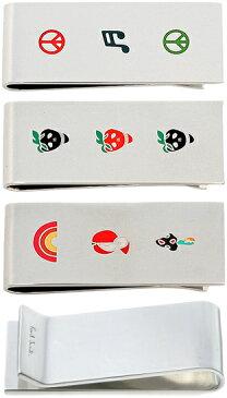 Paul Smith ポールスミスシルバー マネークリップロゴ刻印 ロードレーサー スカルベリー ピースマーク記号 りんご&虹&キノコアクセサリー 財布 札挟みメンズ レディースお札を簡単に挟めますお財布を持ち歩くのは好まないといった方に