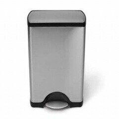 掃除がしやすいインナーボックス付きゴミ箱レクタンギュラーステップカン 30L ステンレスごみ箱 指紋が付きにくい 蓋をロックできるエアーダンパー採用でゆっくり閉じるsimplehuman 四角型 シンプルヒューマン