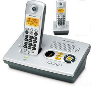 Motorola MD7161-2  Cordless Telephoneモトローラーデジタルコードレス留守番機能付き電話機Motorola MD7161-2  Cordless Telephone[親機用コードレス&増設用コードレス子機]:kaminorth