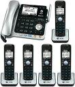 1台で2回線を利用可能デジタルコードレスフォン盗聴がされ難く、クリアな音声通話が可能なDECT6.0方式採用デジタル留守電話機能付き電話機複数回線コード付き親機AT&T ブラック×シルバー ワイヤレス子機スマホ携帯をBluetoothでリンク可能