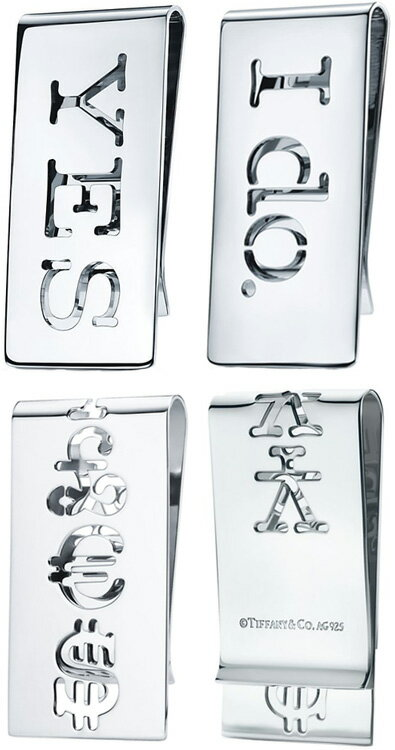 Tiffany&Co.(ティファニー)『シンボル打ち抜きマネークリップ』