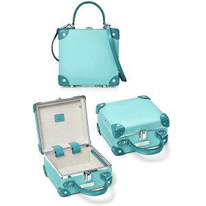 Tiffany&Co. ティファニー2WAYミニショルダーバッグハンドバッグ ミニかばんハンドル付きロンドンスクエアミニボックスレザートリム グローブトロッターレディース ティファニーブルーウィメンズ リベットミニケース取り外し可能ストラップ付き