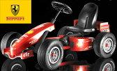 Ferarri F1フェラーリ公式お子様へのプレゼントに大人気!インテリアとしても4輪ゴーカートペダルカー レッド バギーカート操作は簡単、ペダルを漕いでハンドルをきるだけオランダ製 ベルクトイズ社乗用玩具 足こぎバギーカート