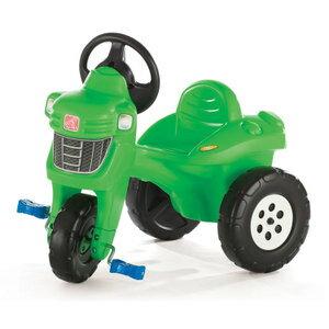大きなタイヤで安定感抜群の農耕機お子様にもリアルを追求三輪車グリーン×ブラックライドオン乗用玩具お子様へのプレゼントに最適足こぎ