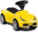 正規フェラーリ公認デザインシートもレザー貼りの本格的お子様にもリアルを追求イタリア名車 スーパーカー乗用玩具FERRARI ライドオンスポーツカー レッド イエローお子様へのプレゼントに最適足蹴り 足こぎ 足けり おもちゃ キックカー V8NAモデル 2