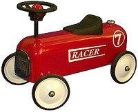 ハンドルを切って遊ぶ乗用玩具またいで足で地面を蹴って進む乗り物ハシゴやホースで遊べる消防車レーサー ブルー ホワイト子供用四輪車 キックカー子供用ライドオン 乗り物玩具ファイヤートラック クラシックカー