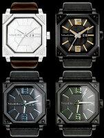 スタイリッシュLED腕時計イギリスロンドンブランドウォッチヘキサフォースWATCHブラック×グリーンブラック×ブルーブラック×オレンジシルバー×ブラウン