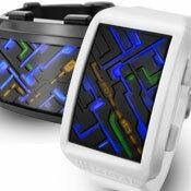 未来系LED腕時計アルミケースメンズウォッチコックピットアルマイトコーティング&ブラッシュマイトアルミニウムシルバーブラックLEDマルチカラー