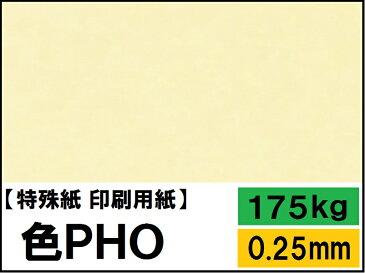 【特殊紙】色PHO 淡クリーム 175kg(0.25mm) A3 100枚【ファンシーペーパー 印刷用紙】