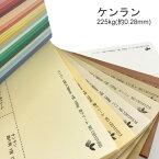 【特殊紙】ケンラン 225kg(0.28mm) A4 50枚選べる44色(あ〜た行)【ファンシーペーパー 印刷用紙 カラー用紙 カラーペーパー 紙飛行機 カード 平らな紙 カラー ケント紙 再生紙】