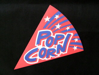 Triangle bag popcorn 2500 sheets with ☆