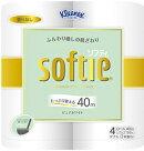 日本製紙クレシアクリネックスソフティピュアホワイト4ロールダブル10パック入り送料無料