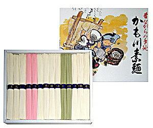 SI-22 手延三味素麺極寒製/化粧箱入り 素麺50g×10束・よもぎ50g×2束・梅50g×2束