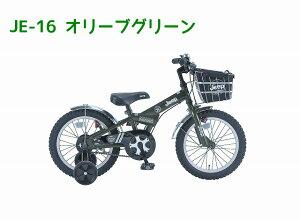 【完売御礼】2014ジープJeepKidsBike18インチ補助輪付幼児車JE-18Gオリーブグリーン身長110cm〜BAA子供自転車!