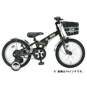 2015ジープ18インチ幼児車JE-18Gオリーブグリーン2015JeepKidsBike18インチ補助輪付自転車身長105cm〜BAA子供自転車!
