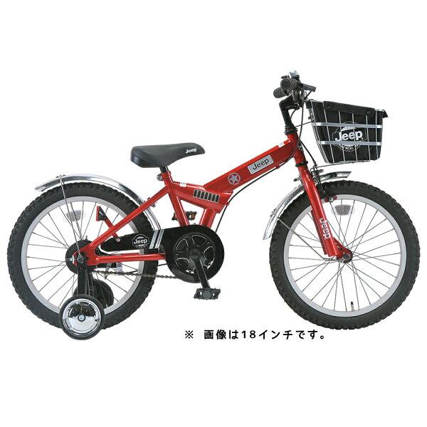 2015ジープ16インチ幼児車JE-16Rレッド2015JeepKidsBike16インチ補助輪付自転車身長95cm〜BAA子供自転車!