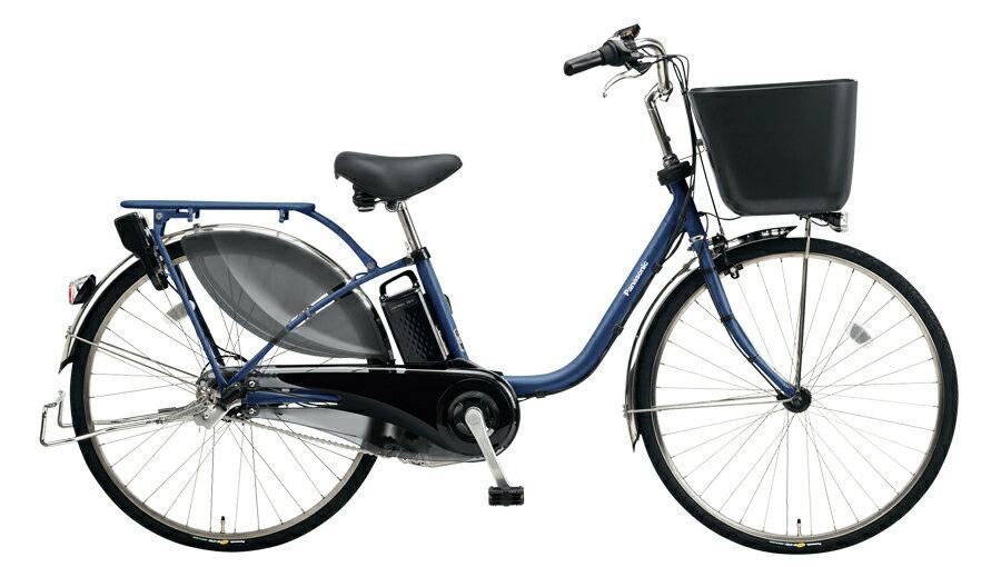 電動アシスト自転車 インディゴブルーメタリック パナソニック 完成車 BE-ELKD63V ビビ・KD 26インチ 16A 2018