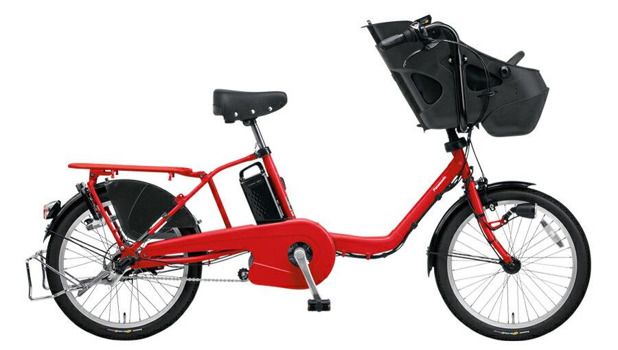 パナソニックギュット・ミニ・DXBE-ELMD034R2ロイヤルレッド20インチ16A2018電動アシスト自転車完成車