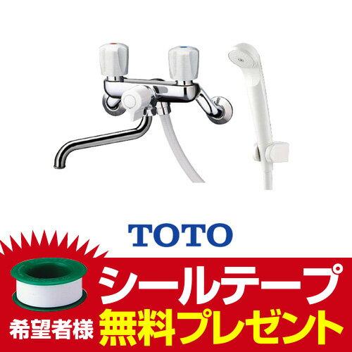 TOTO浴室シャワー水栓一時止水なし蛇口混合水栓蛇口壁付きタイプ TMS25C 2ハンドルシャワー水栓スプレー(節水)シャワ