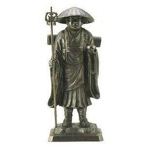 弘法大師像 銅製 10号 般若純一郎作ta56-03:カナシチ
