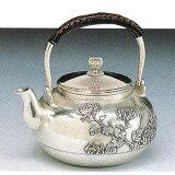 【】銀製茶器 銀瓶 菊模様o220-08