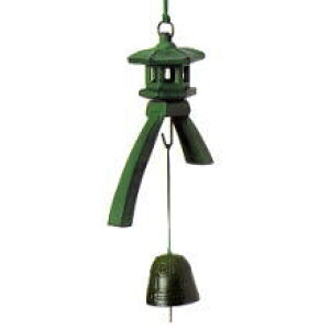 NO18 Kotoji lantern wind chimes (bronze) Southern wind chimes Japanese souvenirs Made in Japan