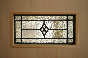 ステンドグラス四つのダイヤ長方形