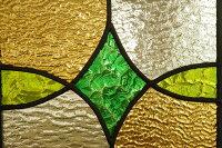 ステンドグラスダイヤと楕円グリーン×イエロー20cm×20cm