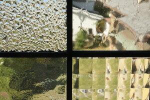 ステンドグラスクリアガラスの組み合わせ