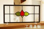 ステンドグラス透明な花