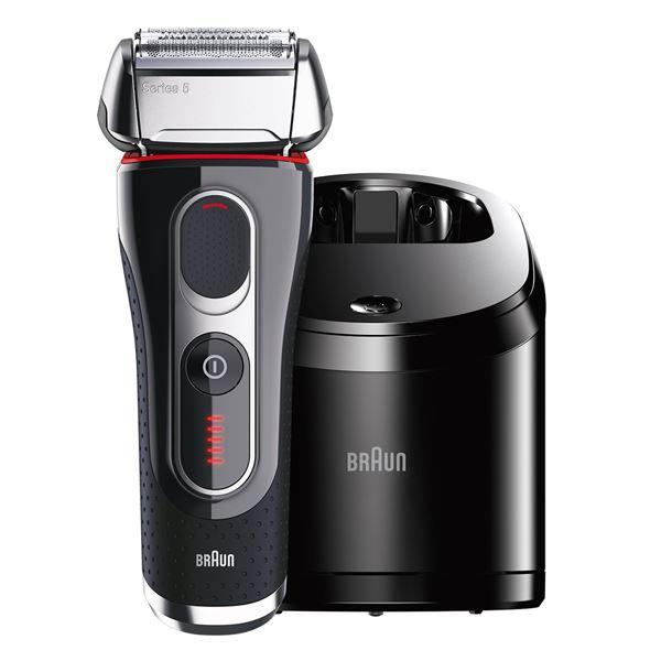 電気シェーバー 往復式・3枚刃 充電式 自動アルコール洗浄システム搭載 Series 5 シェーバー 電気シェーバー 髭剃り メンズシェーバー