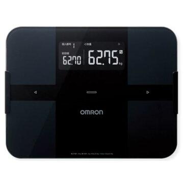 体重計 スマホ連動 体脂肪計 体組成計 内臓脂肪 デジタル オムロン ブラック