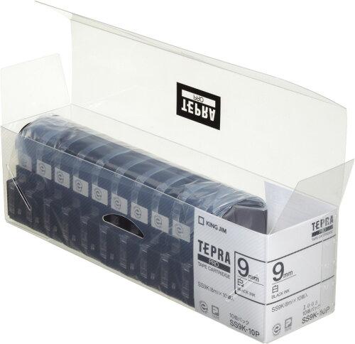 テプラ テープセット テプラ PROカートリッジ(10個パック) SS9K-10P (白ラベル/黒文字)テプラ ...