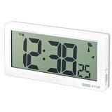 電波時計 壁掛け/置き時計 兼用タイプ 3チェンジ ホワイト(壁掛け時計/置き時計/角型/デジタル/温度計/湿度計/温湿度計/カレンダー)