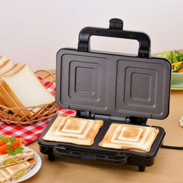 ホットサンドメーカー耳まで食パン2枚焼き電気式そのままホットサンド新津興器