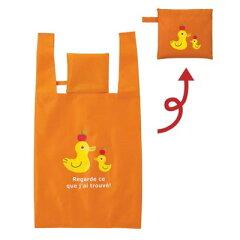 使わない時は小さく収納 持ち運びが簡単かわいいエコバッグお買い物袋 エコバック コンビニバッ...