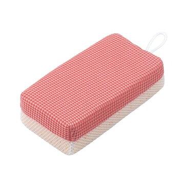 お風呂掃除用スポンジクリーナー バスクリーナー 赤カビくん マイクロファイバー&ネット
