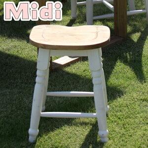 【送料無料】CFS-213ミディツール椅子スツール天然木(パイン)オイル仕上水性塗装