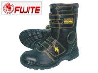 安全靴 静電 富士手袋工業 静電安全靴ブーツ型 9989 安全靴 4E 高所用安全靴