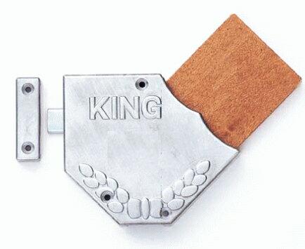 飲食店様の下駄箱におすすめ♪ レトロな木札のカギ 【STAR KING キング風呂屋錠 E型】 (無地タイプ) 本体1台とキー2枚のセットで