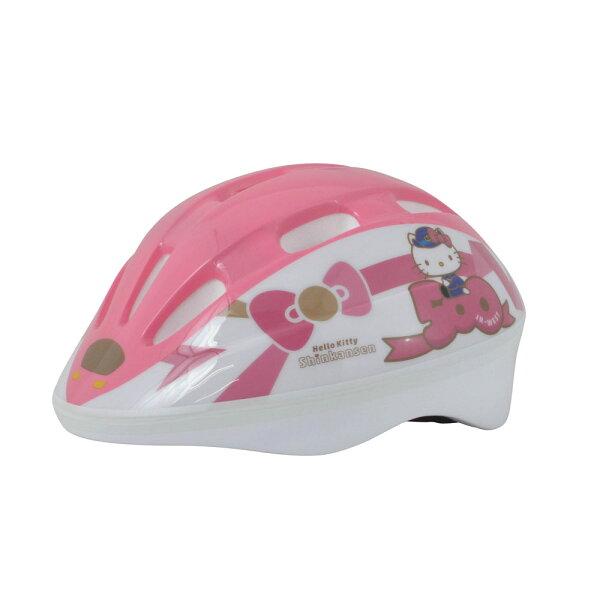dff4a6d7a132 500系ハローキティ新幹線ヘルメット[子供用 ヘルメット キッズ 自転車 新幹線 鉄道 キッズ ストライダー SG規格 kids 女の子 サンリオ]