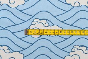 【メール便配送のみ・1回のご注文につき3mまで】生地/裾ボーダー/鱗滝左近次風/鬼滅の刃風【必ず数量5(50cm)以上でご注文ください!】
