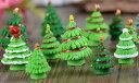 クリスマスツリー 2色5タイプ 小サイズ 約2*2.8cm ...