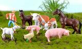 農場うまぶたうしやぎあひるのうみんテラリウムフィギュア動物ミニチュアミニフィギュアジオラマコケリウムイベント